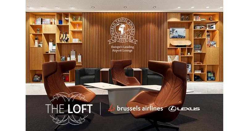 Europe's Leading Airport Lounge 2019 - THE LOFT by Brussels Airlines and Lexus
