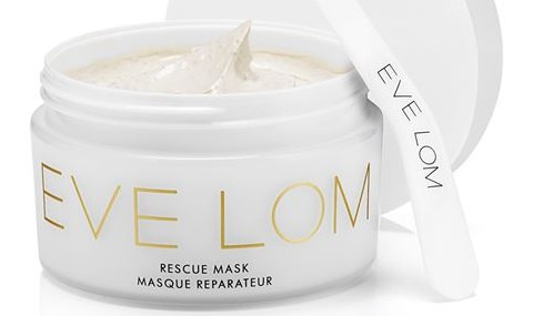 Eve Lom Rescue Mask with gold-coloured spatula