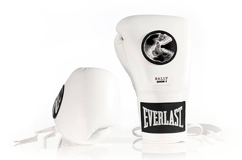 Everlast boxing glove with SHOK-1's 'The Consumer' artwork