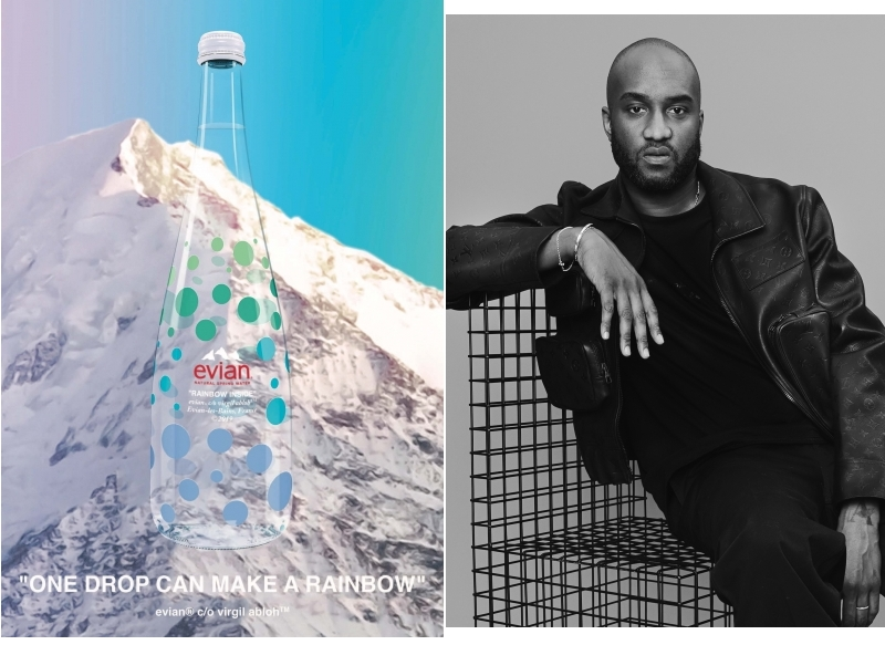 Evian presents One Drop Can Make A Rainbow by Virgil Abloh-