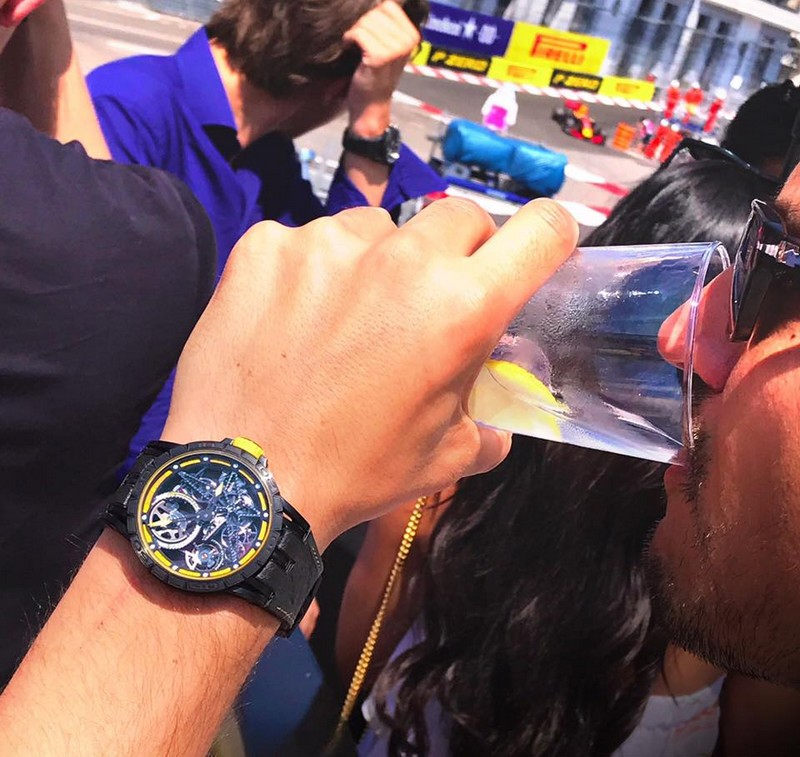 Excalibur Spider Pirelli timepieces are performed with winning motorsport rubber