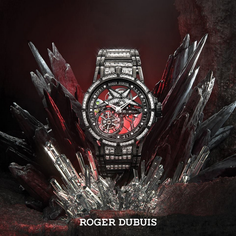 Excalibur Spider Ultimate Carbon - the embodiment of the cutting-edge watchmaking skills with boldly imaginative diamond set aesthetics