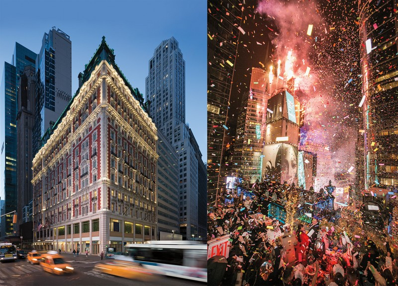 Experience New Year's Eve above Times Square with a private party for 300 people at The Knickerbocker Hotel