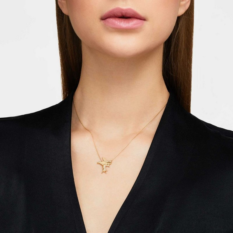 F IS FOR FLYING FISH NECKLACE-
