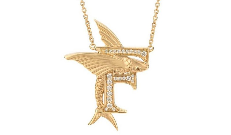 F IS FOR FLYING FISH NECKLACE