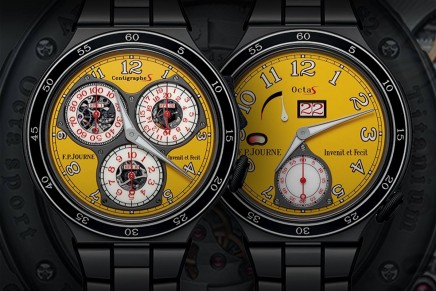 F.P.Journe introduces a new racing-inspired yellow design for the Centigraphe Sport and the Octa Sport