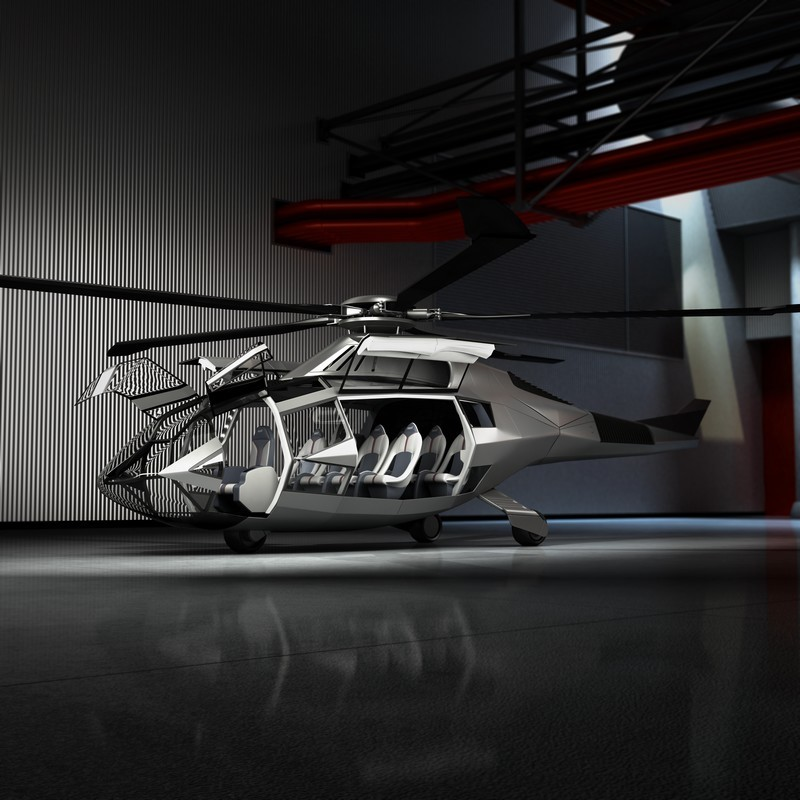 FCX-001 by Bell Helicopter _Garage_Open_Doors