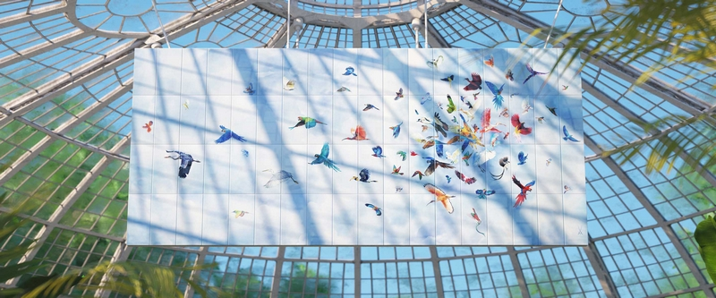 FLOCK OF BIRDS WALL PAINTING 2019-