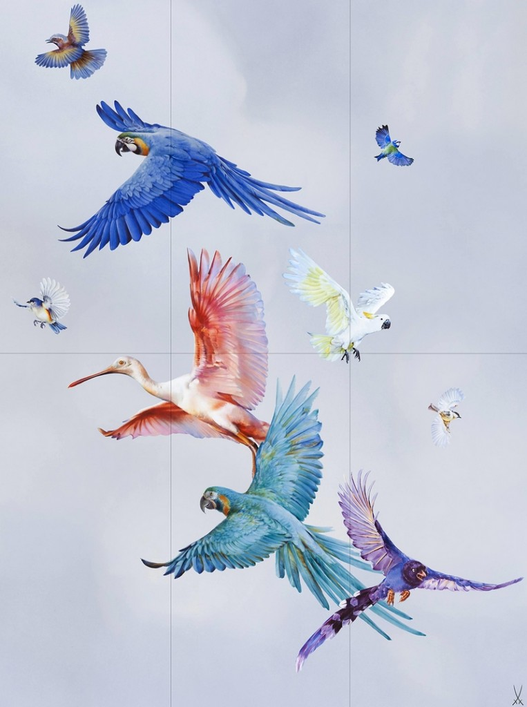 FLOCK OF BIRDS WALL PAINTING 2019