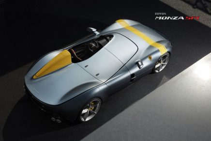 The car inspired by legendary Ferrari racing barchettas wins 2020 Compasso d'Oro