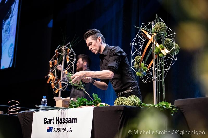 FTD Interflora World Cup Champion Bart Hassam from Australia - 2019 winner-on stage