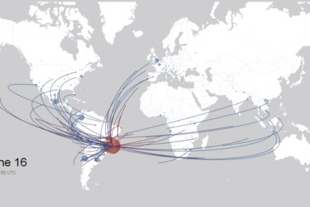 Where people are traveling from to cheer on their World Cup team in Brazil?