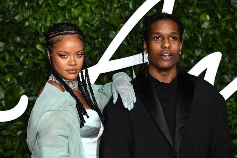 Fashion Awards 2019 ASAP Rocky & Rihanna — at Royal Albert Hall
