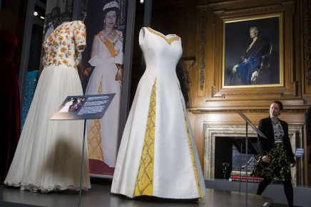 Crowning glory: the Queen's wardrobe goes on show