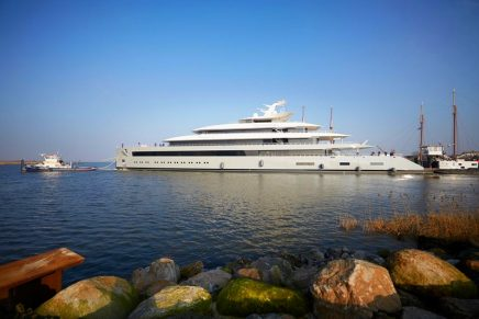 99.95-metre Moonrise – the largest superyacht by waterline length built in the Netherlands to date