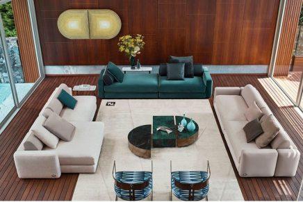 Fendi Casa 2020: Macro geometries and blocks of dominant colours