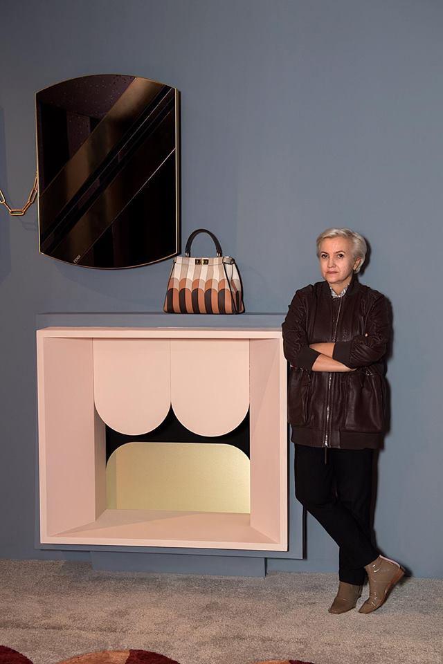 Fendi Casa at 2019 Milan Design Week-Fendi exclusive luggage set worked in the Pequin motif