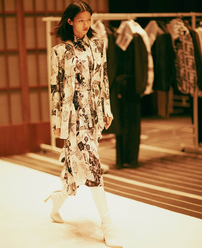 Fendi brought the city of Rome to Shanghai for the first joint runway show in the history of the Maison-