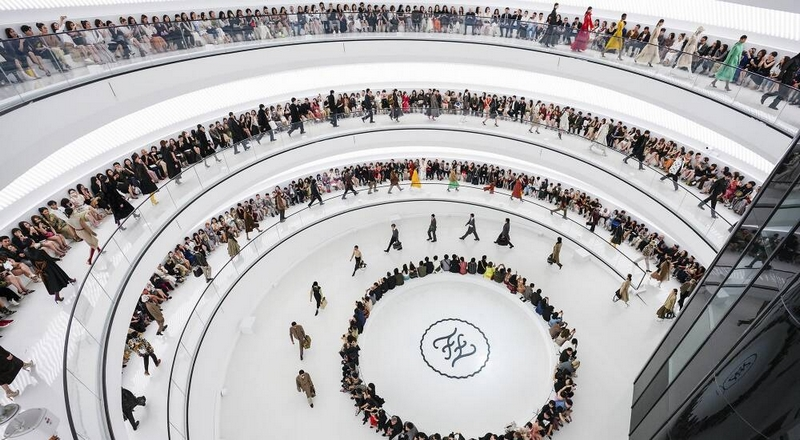 Fendi brought the city of Rome to Shanghai for the first joint runway show in the history of the Maison