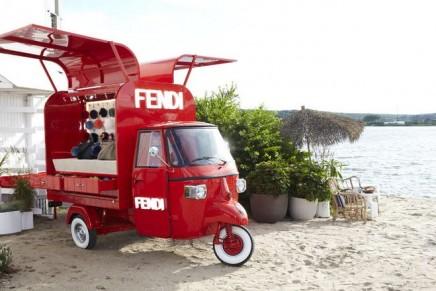 Fendi's Ape Piaggio transformed into a pop-up store