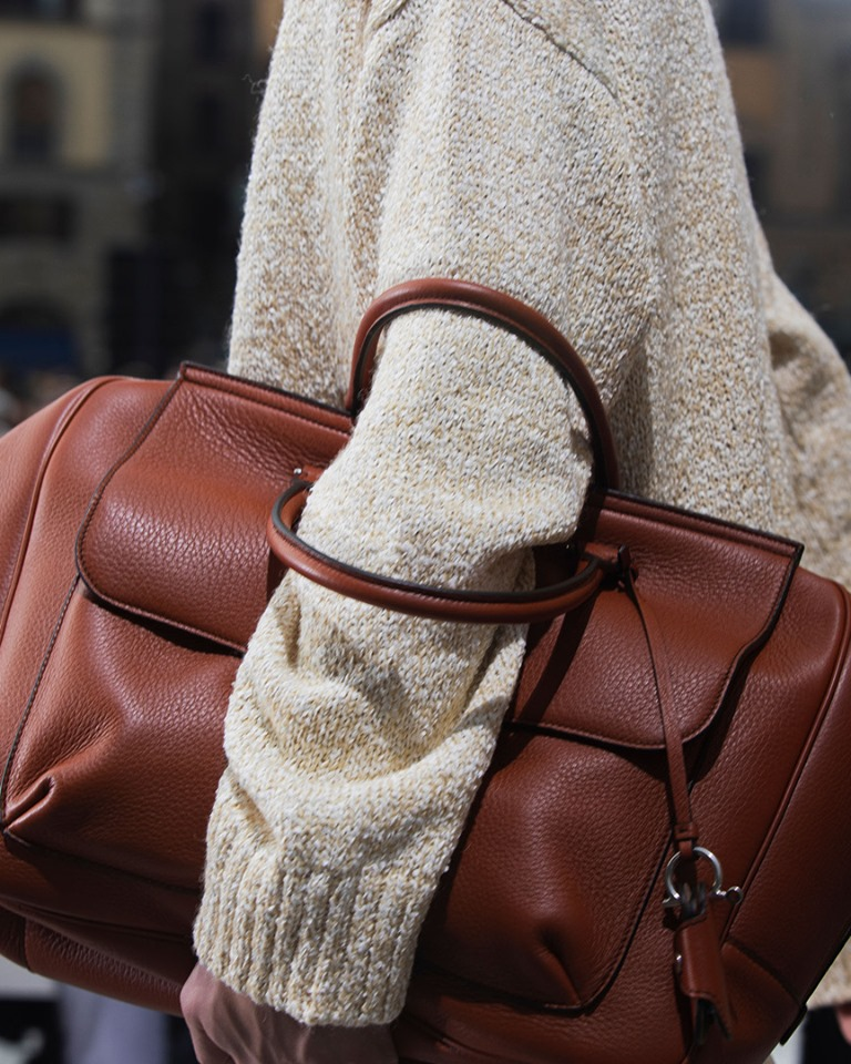 FerragamoSS20 leather accessories that project a luxurious yet unadorned utility