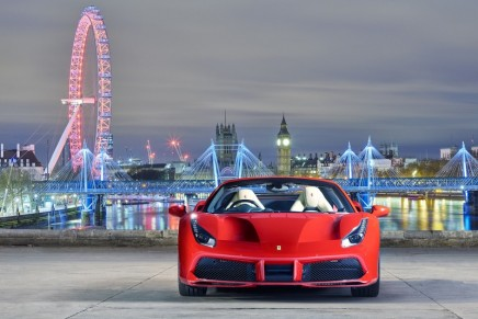 The latest chapter in Ferrari's on-going love affair with open-top V8 sports cars launched in London