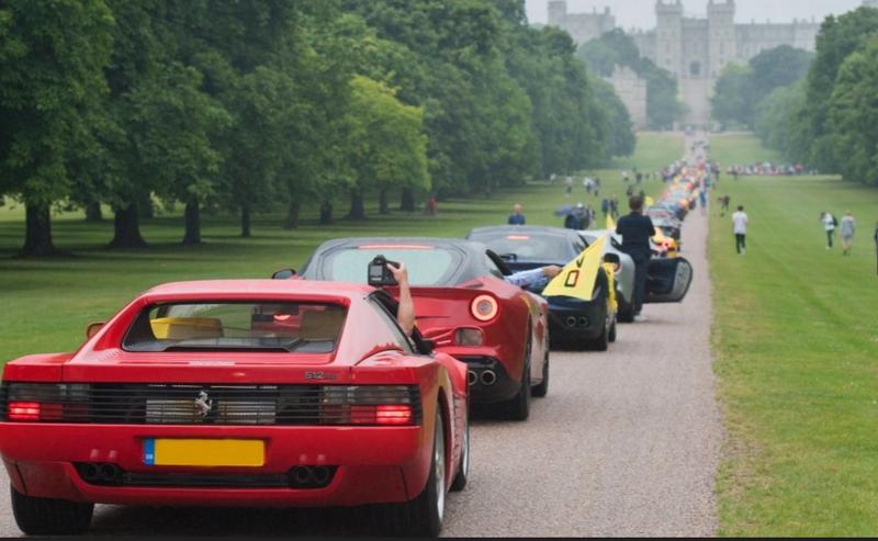 Ferrari 70th Anniversary in UK - 2017-windsor castle estate parade-