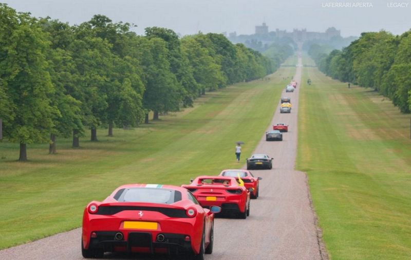 Ferrari 70th Anniversary in UK - 2017-windsor castle estate parade