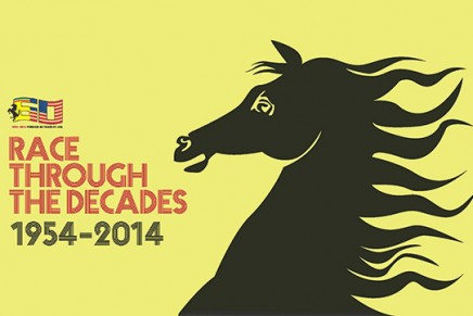 """Sixty of the finest Ferraris and the global premiere of an exclusive model. """"Race Through The Decades: 1954-2014.″"""