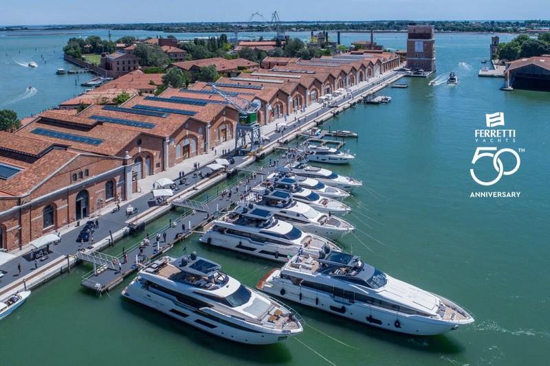 Ferretti Yachts parade in Venice