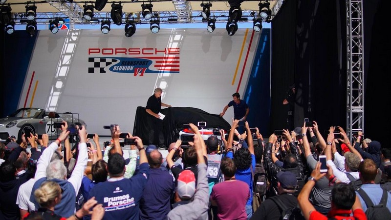 Festive unveiling of the new 935 at Rennsport Reunion