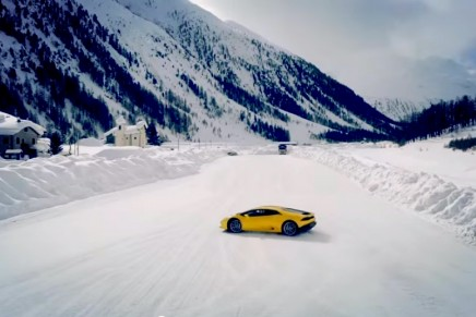 The Lamborghini Winter Driving Academy is testing up to 700 hp on snow and ice with Aventador and Huracán