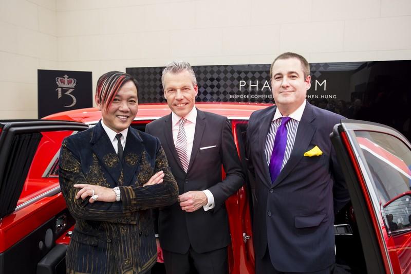 First of 30 Bespoke Rolls-Royce Phantoms presented to Stephen Hung at 2016 Geneva Motor Show---