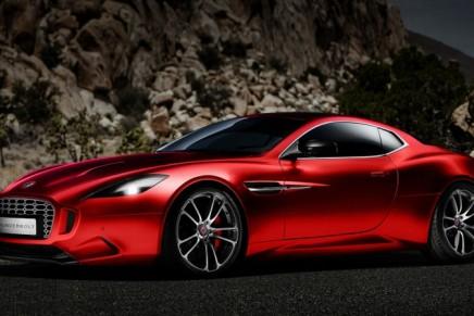 Henrik Fisker's Aston Martin Vanquish-based Thunderbolt concept @ 2015 Amelia Island Concours d'Elegance