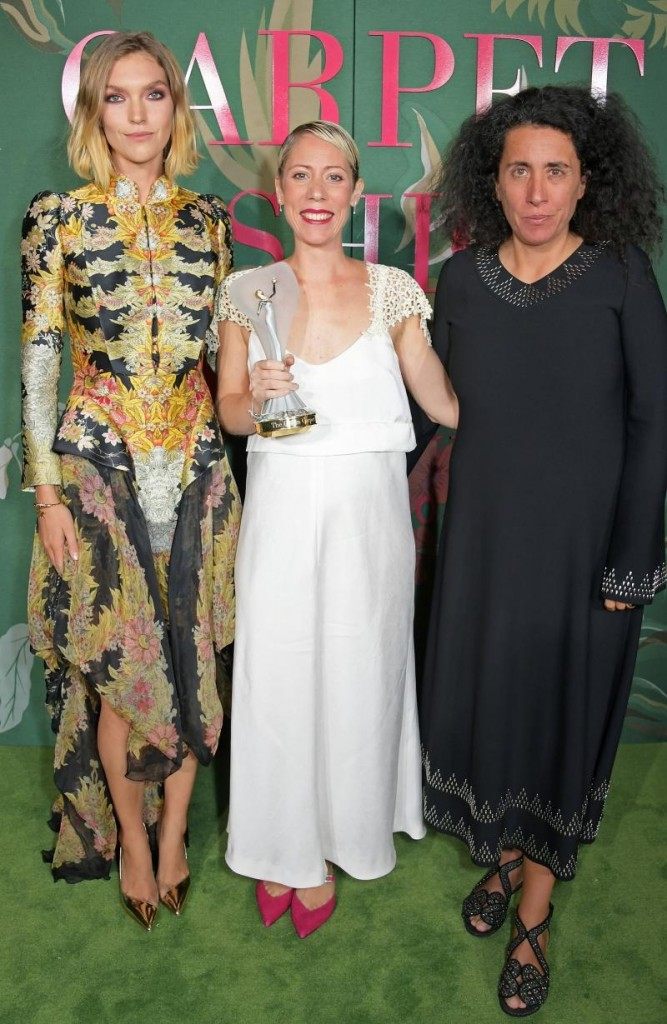 Flavia La Rocca received The Franca Sozzani GCFA Award for Best Emerging Designer