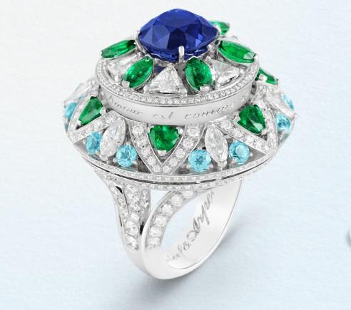 Fleur bleue Ring