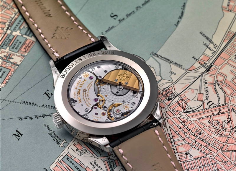 For Boodles 220th Anniversary, Patek Philippe have created a commemorative edition of the World Time watch