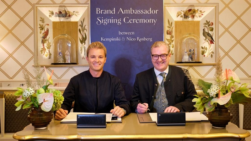 Formula 1World Champion Nico Rosberg becomes brand ambassador for Kempinski Hotels