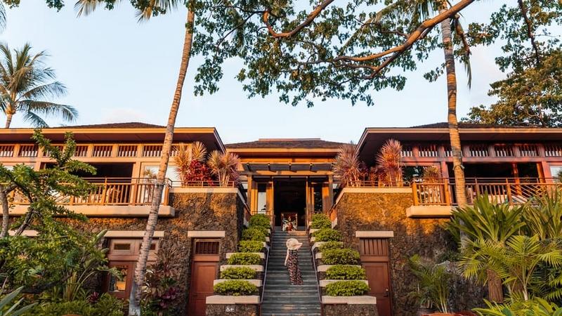 Four Seasons Resort Hualalai lobby building