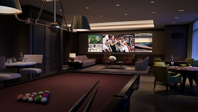 Four Seasons San Francisco Private Residences 2020-Fully equipped game room
