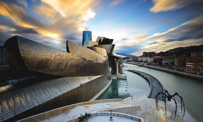 Frank Gehry's Guggenheim museum in Bilbao