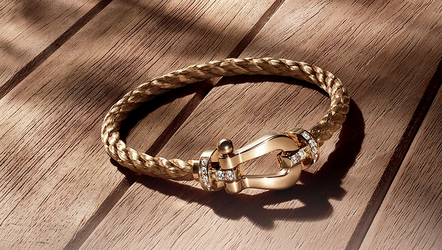 Exceptional Jewelry Fred Force 10 Bracelet In Yellow
