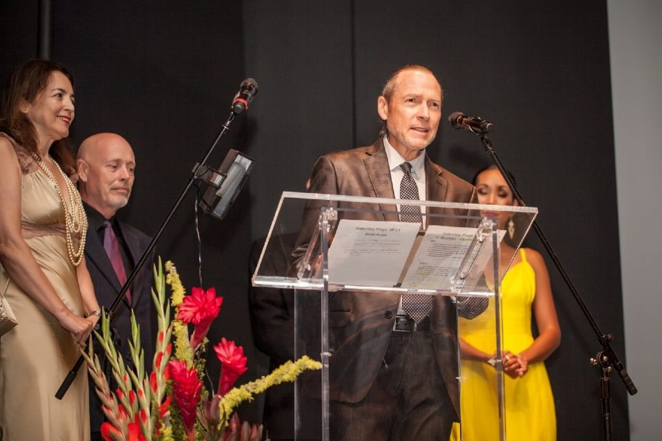 Fred Sweet receiving the New Luxury Award from Creezy Courtoy ...a very special moment