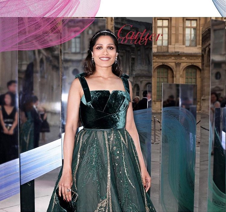 Freida Pinto at the Cartier High Jewelry Gala