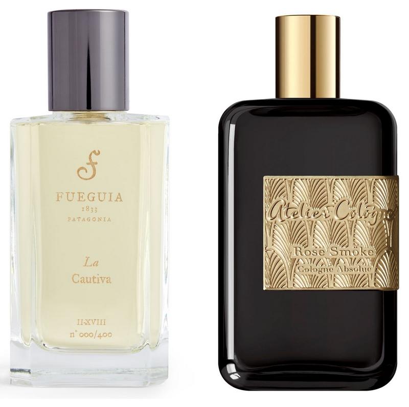 Fueguia La Cautiva Eau de Parfum and Atelier Cologne Rose Smoke Pure Parfum