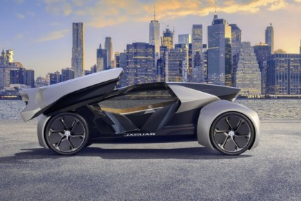 Fully autonomous but driveable, too. Future-Type Concept