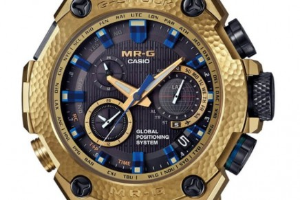 Limited edition 300 MR-G Gold Hammer Tone Timepieces Created for the MR-G 20th Anniversary
