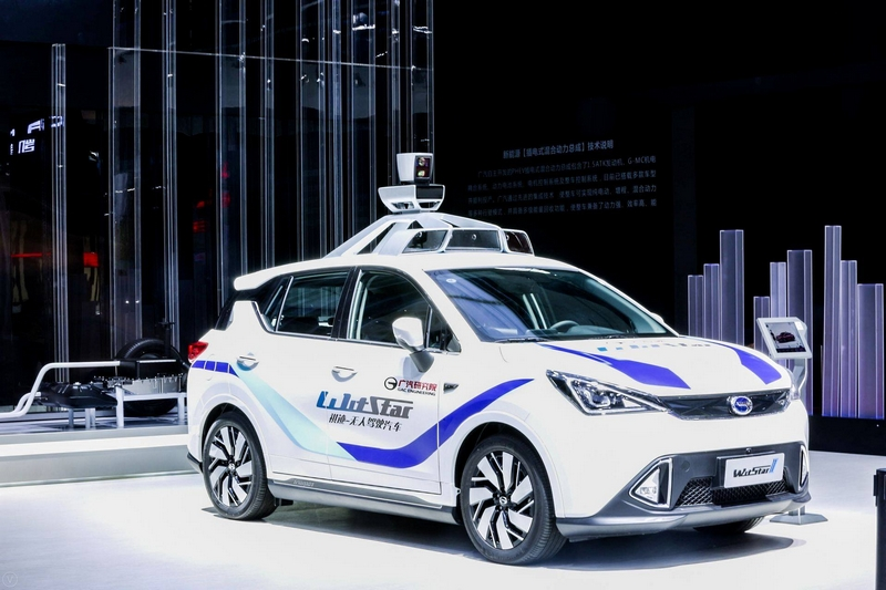 GAC Motor's second-generation self-driving vehicle, WitStarII