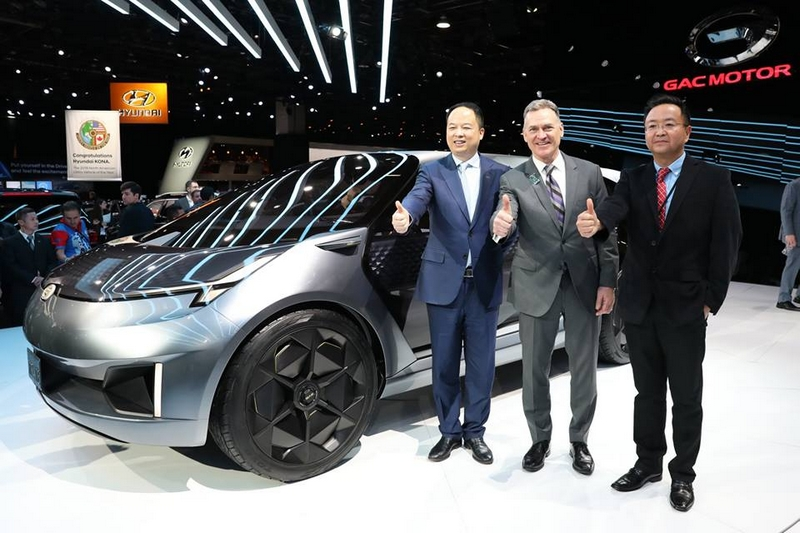 GAC unveiled the concept vehicle Entranze EV. It is the first concept vehicle from GAC's North America design studio in California