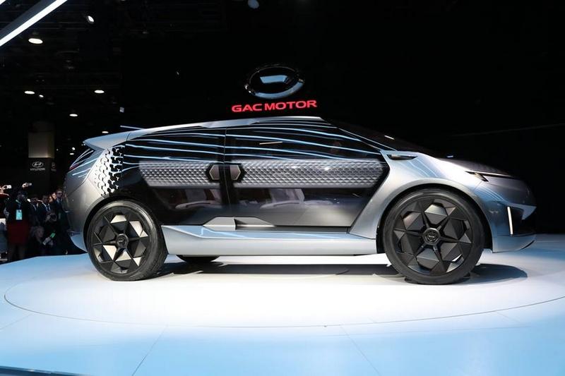 GAC unveiled the concept vehicle Entranze EV. It is the first concept vehicle from GAC's North America design studio